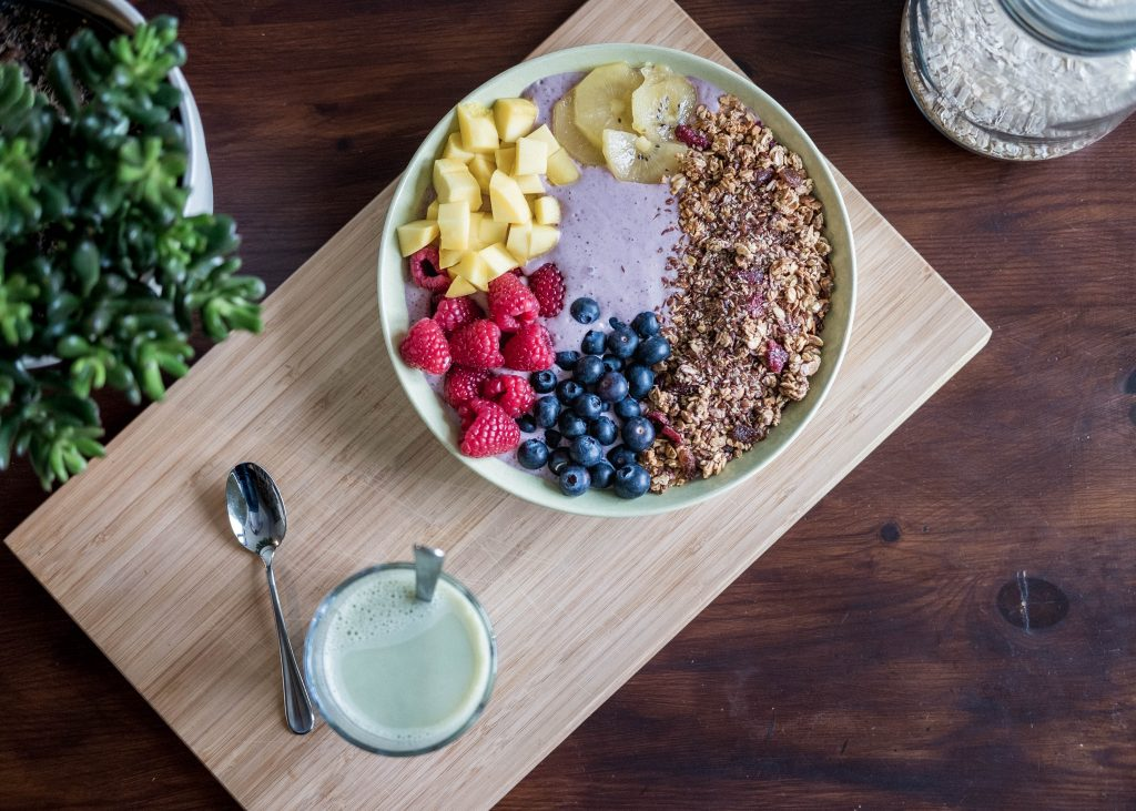 image of an oatmeal and fruit bowl