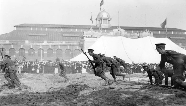 A charging demonstration at the CNE in 1915. (CNE Heritage archives )
