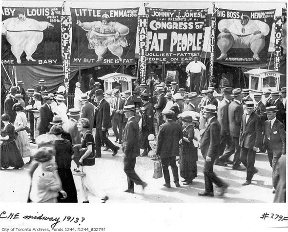 Posters at the Midway Freak Show (1913)